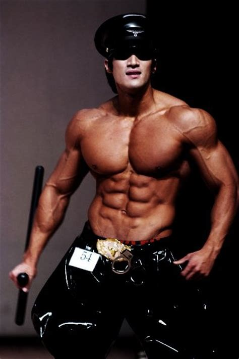 Korean bodybuilder Chul Soon Hwang as a Muscle Cop | 6pack City - the Abs you want and admire ...