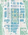 Map of Columbia U & Affiliates   Campus map, Teachers ...