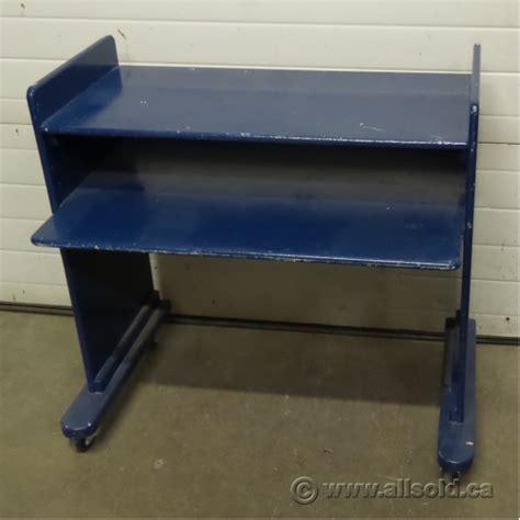 student rolling desk chair blue wooden 2 tier rolling student desk workstation