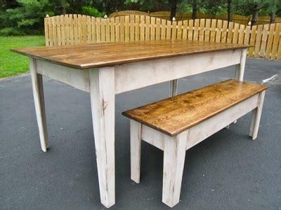 ana white modern farmhouse kitchen table  bench