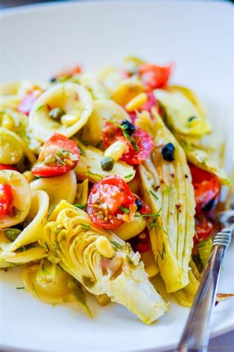 Cook pasta according to package directions. Roasted Fennel and Artichoke Pasta Salad A festive salad perfect for Holiday family dinner. Yo ...