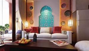 Décoration Orientale Moderne : decoration mur salon marocain ~ Teatrodelosmanantiales.com Idées de Décoration