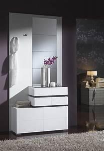 Meuble Entree Blanc : meuble d entree moderne apolline zd1 meu dentr ~ Teatrodelosmanantiales.com Idées de Décoration