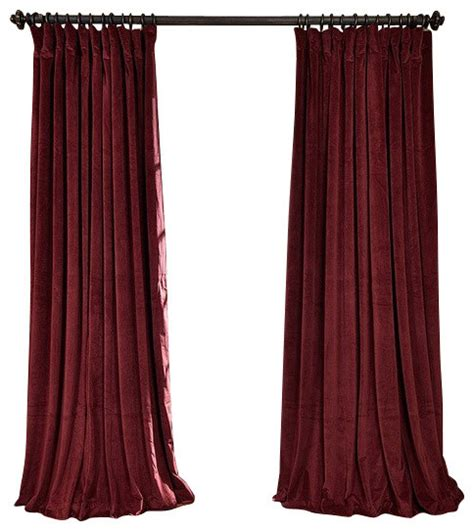 Burgundy Blackout Curtains Uk by Signature Blackout Velvet Single Panel Curtain Burgundy