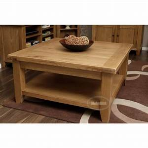 vancoouver rustic oak large square coffee table best With oversized rustic coffee table