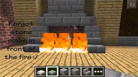 minecraft pe fireplace designs youtube