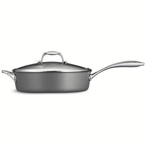 tramontina fry pan tramontina gourmet anodized 5 5 qt covered saute 2910