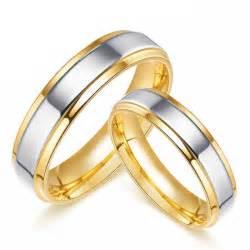 titanium wedding bands reviews engravable 18k gold plated titanium promise rings matching