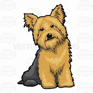 Adorable looking dog sitting comfortably on floor cartoon for How to sit comfortably on the floor