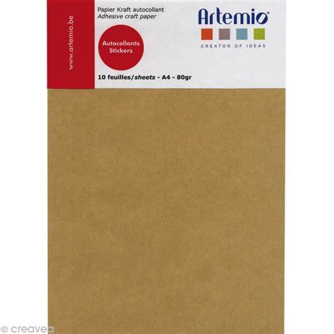 feuille cuisine papier kraft adhésif a4 10 feuilles bloc papier a4 creavea