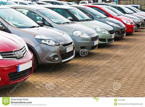 Row Of Different Used Cars Stock Photo. Image Of Buying