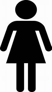 Ladies restroom map symbol clip art at clkercom vector for Girls bathroom symbol