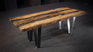 Table Resine Bois : chimenti table par alcarol journal du design ~ Teatrodelosmanantiales.com Idées de Décoration