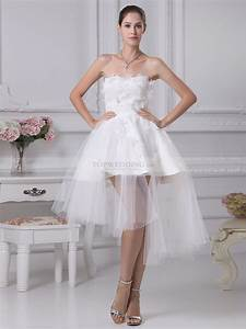 rashada strapless appliqued mini wedding dress with With mini wedding dresses