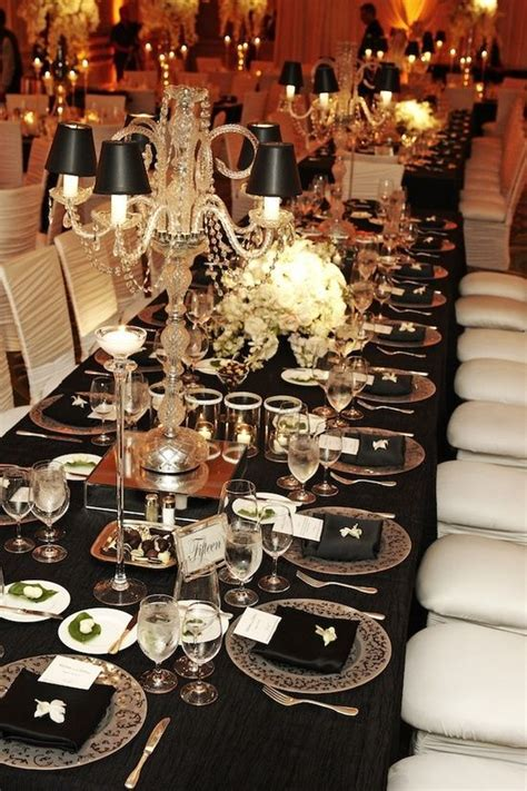 indian weddings inspirations black and white tablescapes