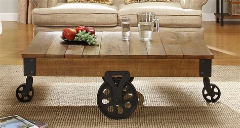 shop table on wheels shop for factory rustic brown cocktail table with solid