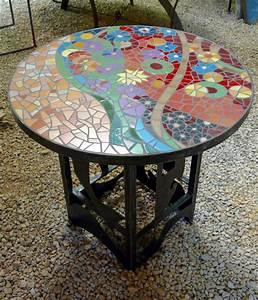 Table De Jardin Mosaique : table en mosaique by patricia hourcq mosaique pinterest mosaique gres et table mosa que ~ Teatrodelosmanantiales.com Idées de Décoration