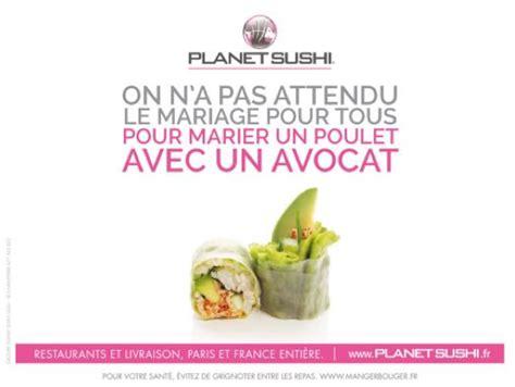 publicité cuisine chez planet sushi les alliances de saveurs font des