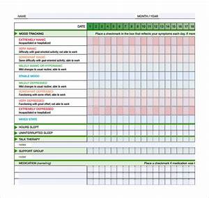 Medication Calendar Template Free 7 Sample Mood Chart Forms In Pdf Ms Word