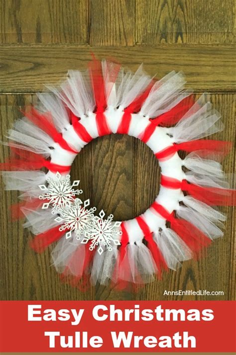 easy christmas tulle wreath