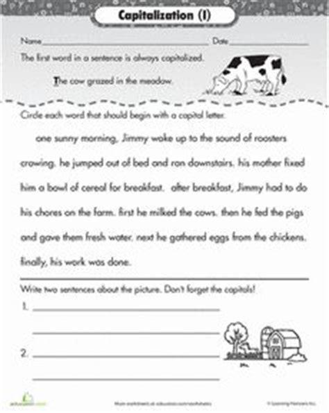 image result for capitalization worksheets 2nd grade pdf