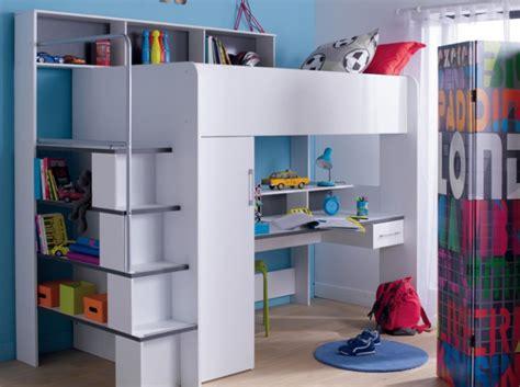 bureau dans une armoire inspiration amenagement choisir deux lits plateforme