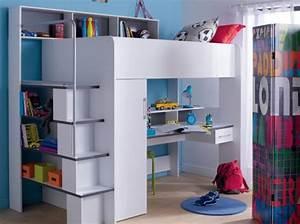 Lit Bureau Conforama : un bureau sous le lit en mezzanine conforama bureau office pinterest bureau sous le lit ~ Teatrodelosmanantiales.com Idées de Décoration
