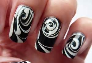 Black and white nail art designs unique