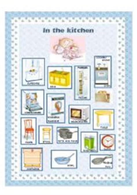 furniture  kitchen esl worksheet  silvia
