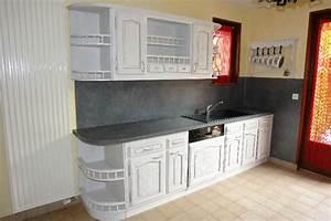 renover sa cuisine rustique le bois chez vous With renover meuble en bois