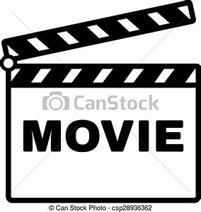 Clip Art Vector of The clapper board icon. Movie symbol ...