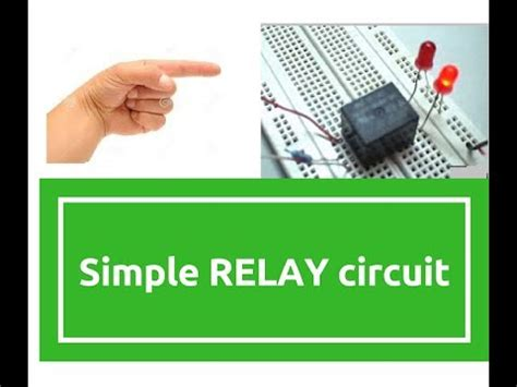 How Make Simple Relay Circuit Electronics Projects