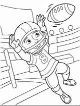 Coloring Pages Sports Football Crayola Doghousemusic Bowl Super sketch template