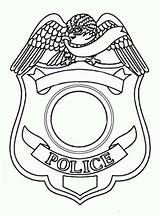 Badge Police Coloring Template Pages Sheet Templates Sketch sketch template