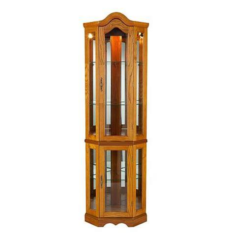 oak corner curio cabinet lighted corner curio cabinet golden oak hsn