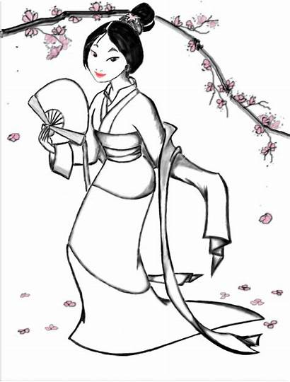 Mulan Coloring Disney Pages Princess Mushu Deviantart