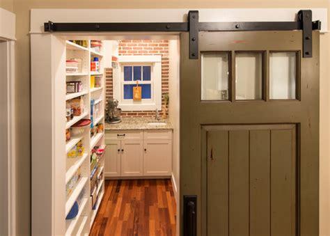 rustic  chic  kitchens  barn door accents