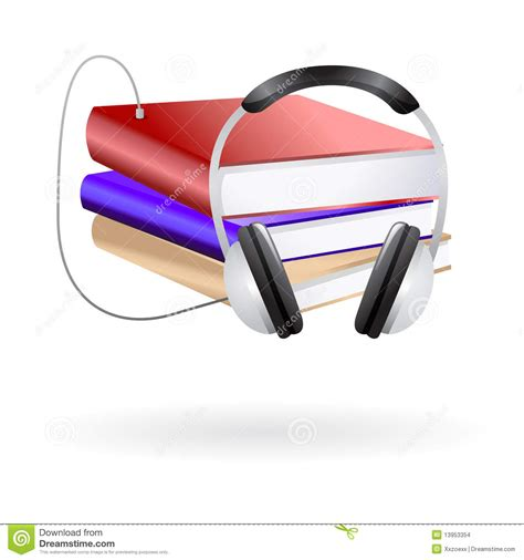 audio books clip art stock images image