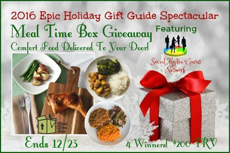 Meal Time Box Giveaway (comfort Food Delivered To Your