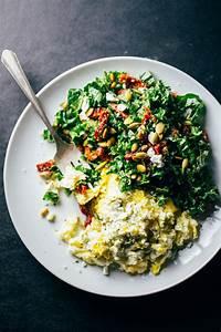 Goat Cheese Scrambled Eggs with Pesto Veggies Recipe ...