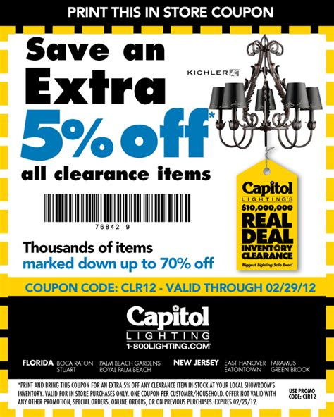 capitol lighting coupon capitol lightings 10 000 000 clearance sale is underway