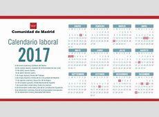 El calendario laboral de 2017 en Madrid pierde el festivo