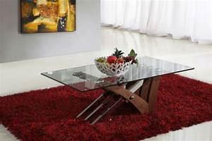 tapis table basse meuble de salon contemporain With tapis pour table basse