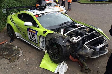 Martin Crash by Racecarsdirect Aston Martin Vantage Crashed Car