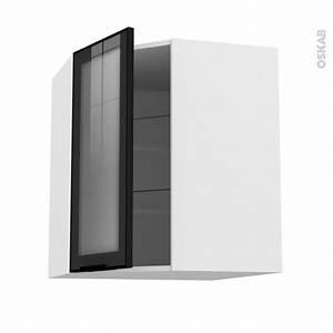 Meuble Haut Cuisine Vitré : meuble de cuisine angle haut vitr fa ade noire alu 1 porte n 19 l40 cm l65 x h70 x p37 cm ~ Teatrodelosmanantiales.com Idées de Décoration