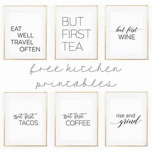 Free printable kitchen wall art 8x10quot set of six prints for Kitchen colors with white cabinets with free printable wall art 8x10