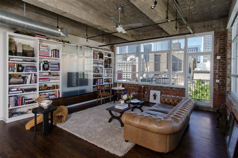 Houston Loft  Industrial  Living Room  Houston  By C O