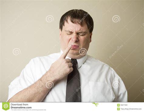 Businessman Picking His Nose Royalty-free Stock Image
