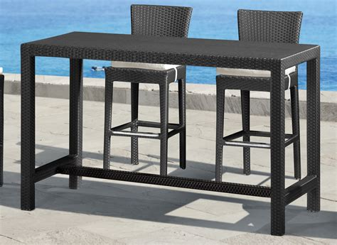 pub height patio table zuo modern anguilla bar height outdoor table 701144