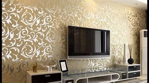 wallpaper design  living room home decoration ideas